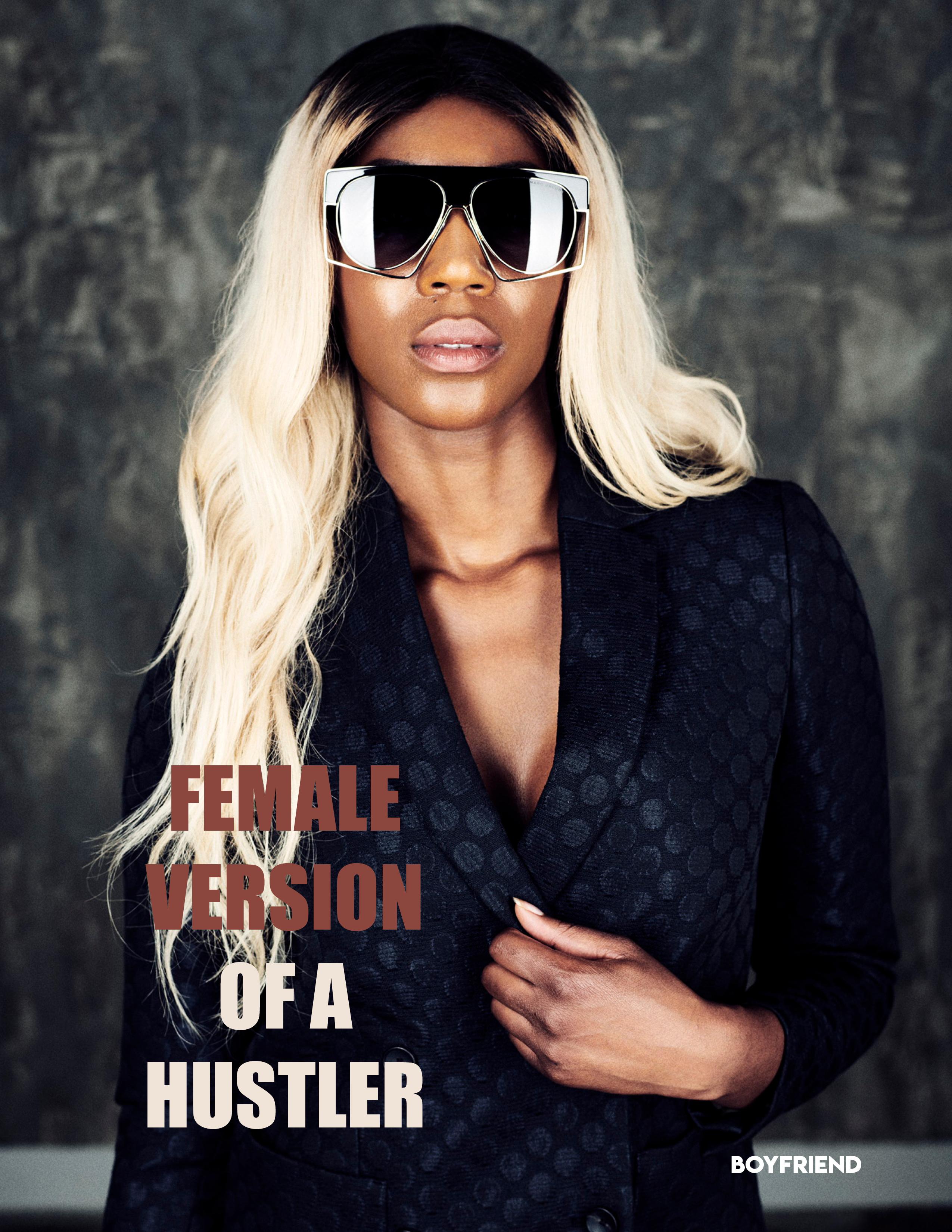 Female version of a hustler