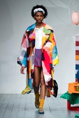 180 The Strand, London UK. 15th September 2018. Minki shows Spring Summer 2019 designs at catwalk show. © Chris Yates